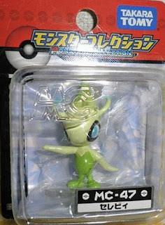 Celebi figure Tomy Monster Collection MC series
