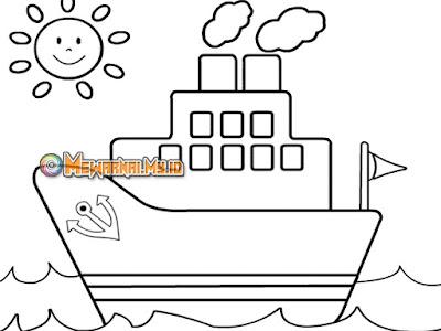 Gambar Mewarnai Kendaraan Laut dengan Langkah Mudah
