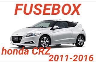 fusebox HONDA CRZ 2011-2016