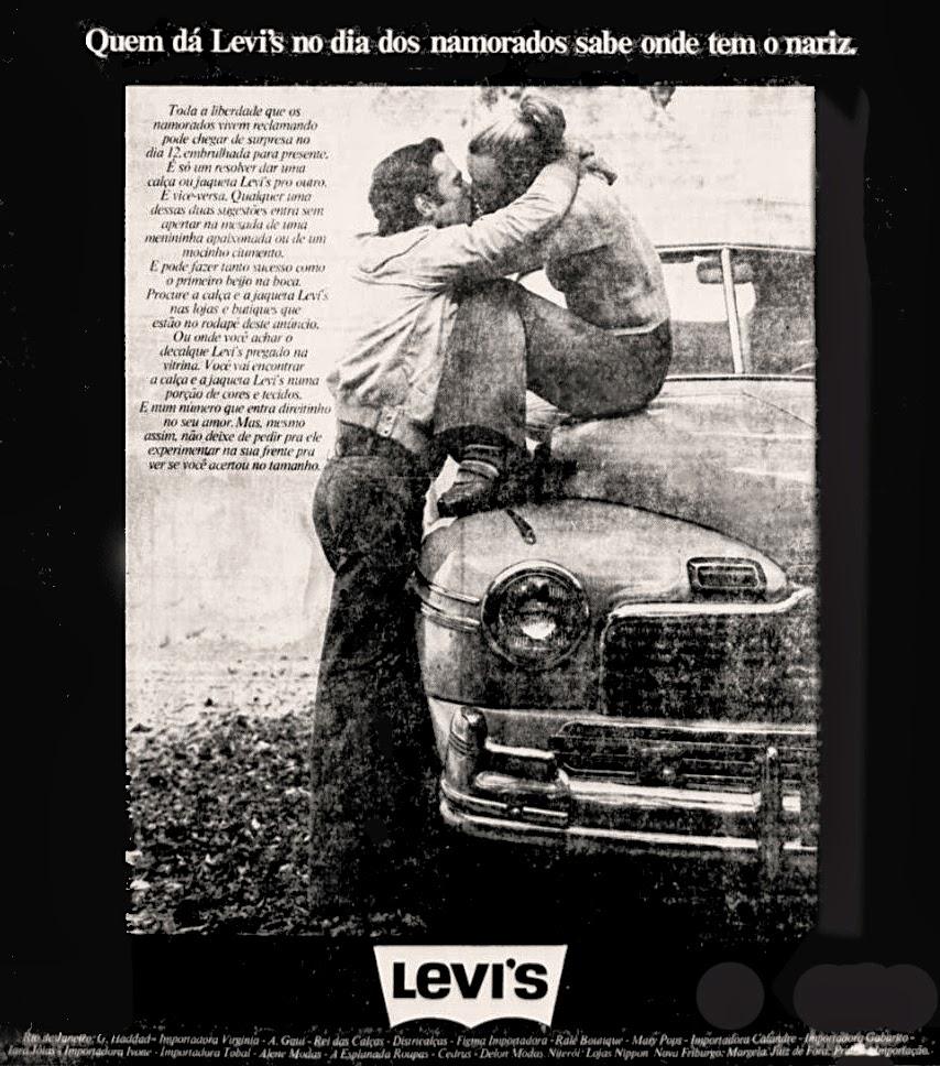 levi's. moda anos 70.  Os anos 70. propaganda anos 70; história da década de 70; reclames anos 70; brazil in the 70s; Oswaldo Hernandez