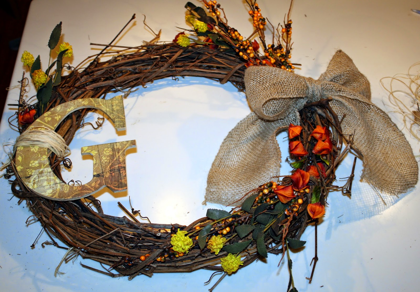 Easy DIY - Fall Monogram Wreath