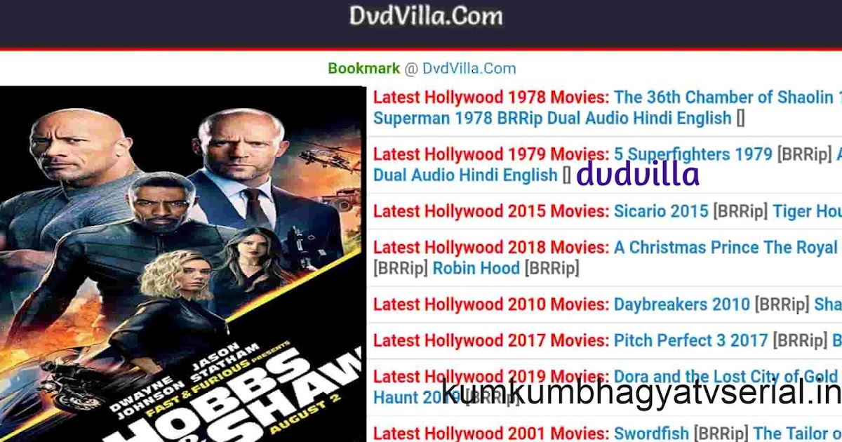 Dvdvilla 2020 Dvdvilla Bollywood Dvdvilla Hollywood South Movie Download Hd Dubbed In Dvdvilla Real Website