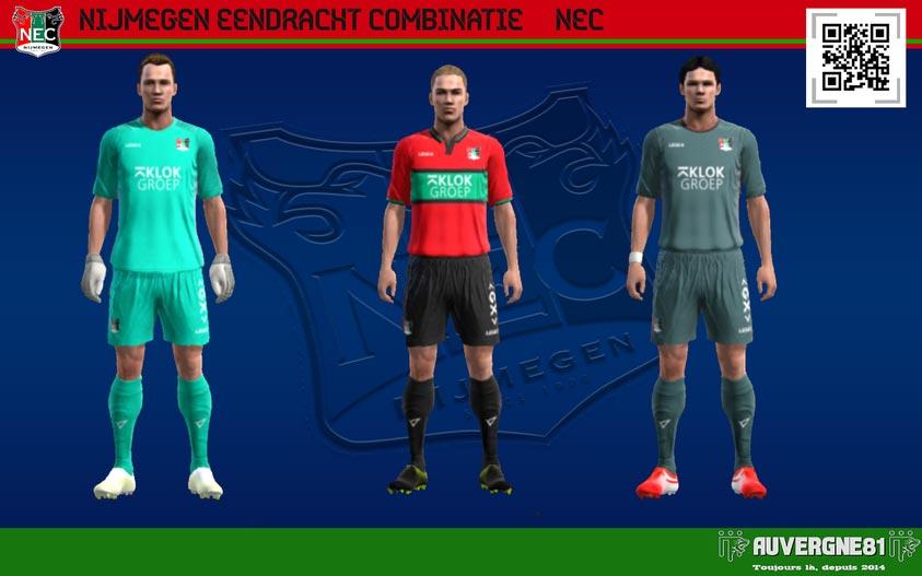 Kits NEC Nijmegen 2021-2022 For PES 2013