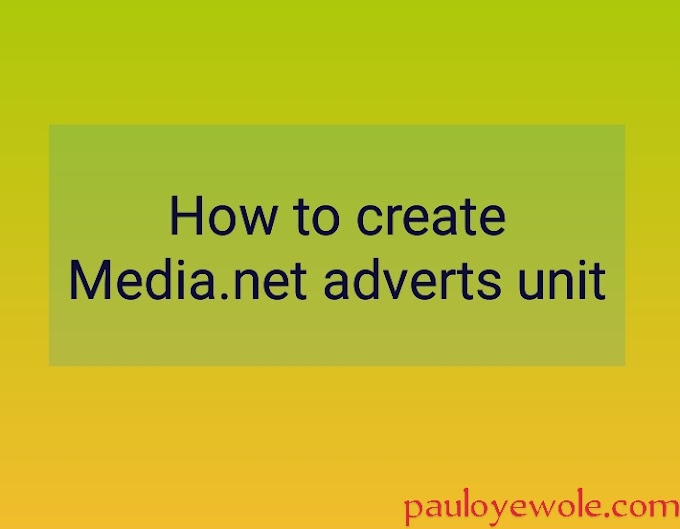 How to create Media.net adverts unit