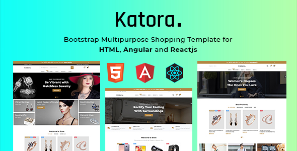 Katora 3in1 Multipurpose Bootstrap Shopping Template