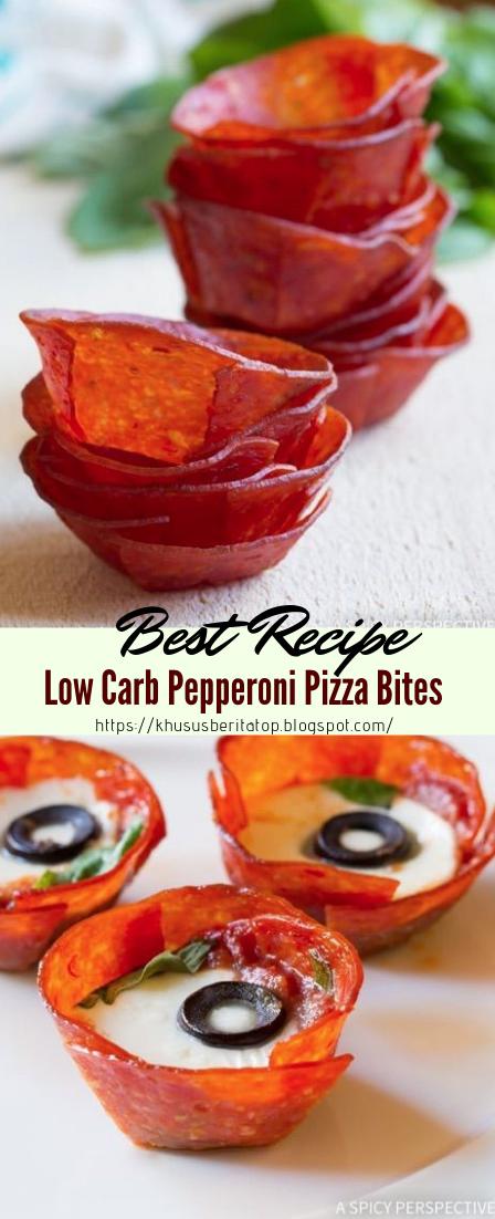 Low Carb Pepperoni Pizza Bites #vegan #vegetarian #soup #breakfast #lunch