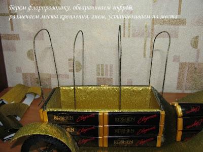 как сделать ретро-автомобиль из конфет своими руками мастер-класс пошагово