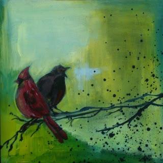 fugle, farver,kunst,maleri,art,diskusion