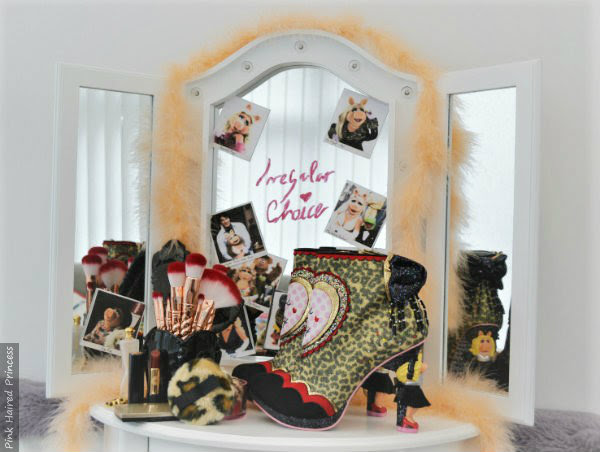 dressing room scene with Irregular Choice Disney Muppets Fierce Piggy boots