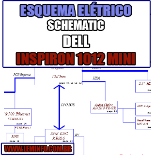 Esquema Elétrico Manual de Serviço Notebook Laptop Placa Mãe Dell Inspiron Mini 1012  Schematic Service Manual Diagram Laptop Motherboard Dell Inspiron Mini 1012 Esquematico Manual de Servicio Diagrama Electrico Portátil Placa Madre Dell Inspiron Mini 1012
