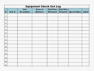 The admin bitch download equipment check out log template for Office routing slip template