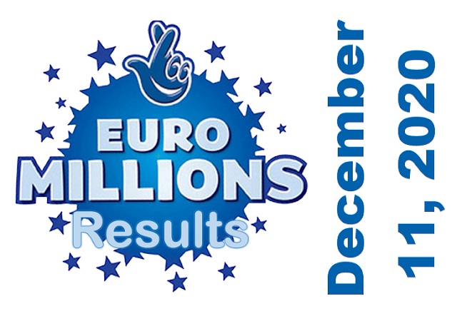 EuroMillions Results for Friday, December 11, 2020