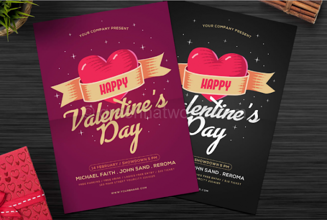 Download Modern Valentine Party Flyer PSD
