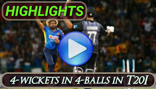 Lasith Malinga Hat-trick | 4-wickets in 4-balls in T20I Highlights