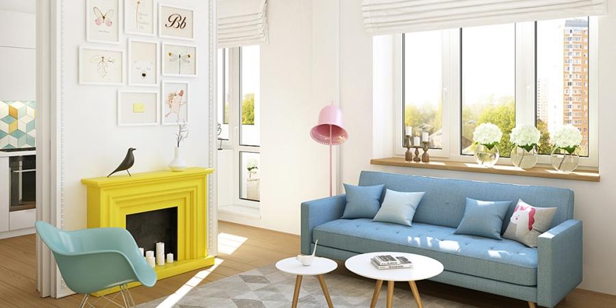 wystrój wnętrz, wnętrza, urządzanie mieszkania, dom, home decor, dekoracje, aranżacje, małe wnętrza, małe mieszkanie, styl nowoczesny, modern style, kolorowe dodatki, color decor, pastelowe kolory, salon, living room, kuchnia, kitchen