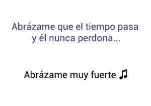 Juan Gabriel Abrázame Muy Fuerte significado de la canción.
