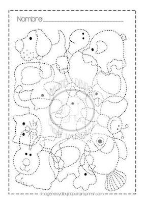 fichas de preescolar para imprimir en pdf