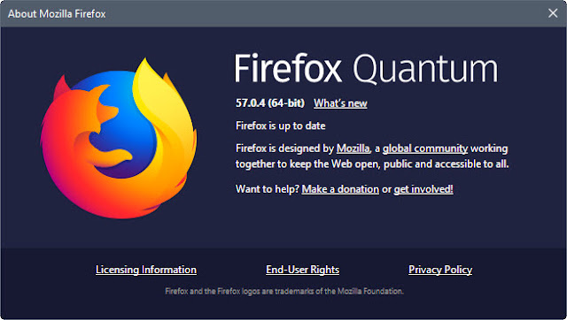 Download Mozilla Firefox Quantum 57.0.4 offline installer untuk Windows, Mac, dan Android