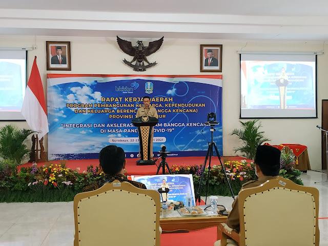 Perkuat Program Bangga Kencana 2021, BKKBN Jatim Gelar Pra Rakerda