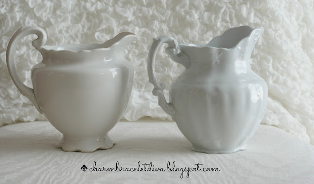 vintage thrift store ironstone pitchers