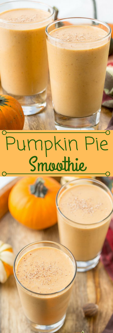 Easy Pumpkin Pie Smoothie #drink #pumpkin #easy #recipes #sangria
