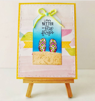 Life's better in flip flops by Paula features Flip-Flop Life by Newton's Nook Designs; #newtonsnook