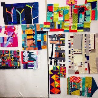 More great patchwork doodling. Everyone does it differently.