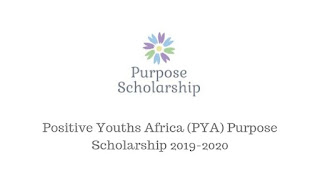 Positive_Youths_Africa_(PYA)_Purpose_Scholarship_2019/2020_for_Refugees_and_IDPs_in_Cameroon