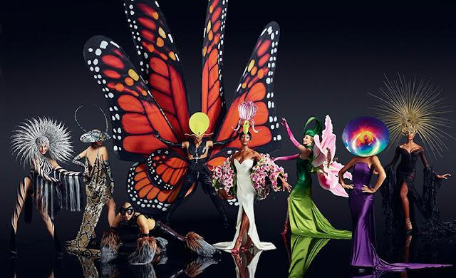 Referências de moda e marcas de luxo no espetáculo VIVID Grand Show em Berlim