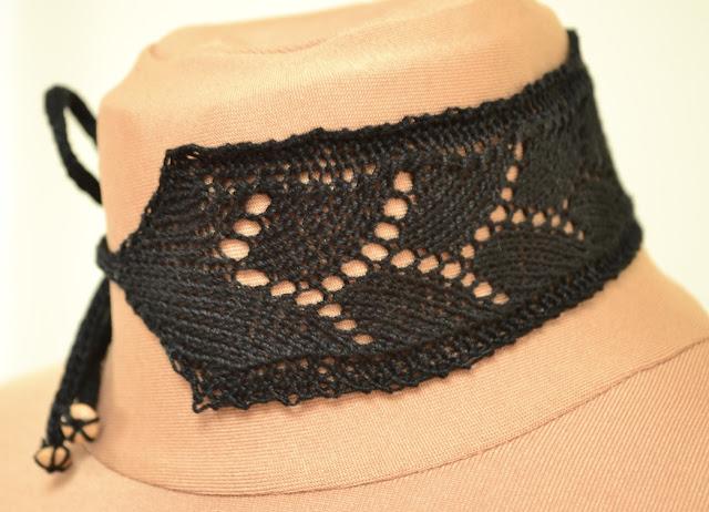 Free Lace Choker Knitting Pattern