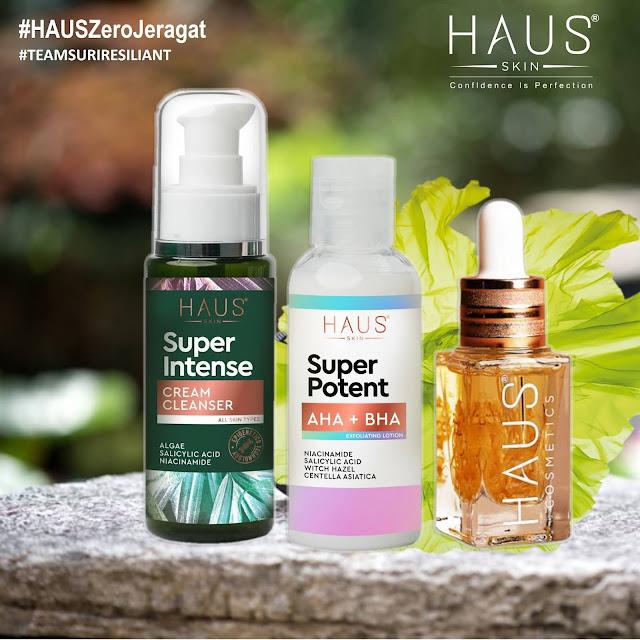 HAUS SKIN SET JERAGAT: RM171 🌺Super Intense Cream Cleanser 🌺Super Intense Acne Serum 🌺Super Potent AHA/BHA Lotion FREE Sample Gel Brightening Blood Orange Algae Moisturizer 2g