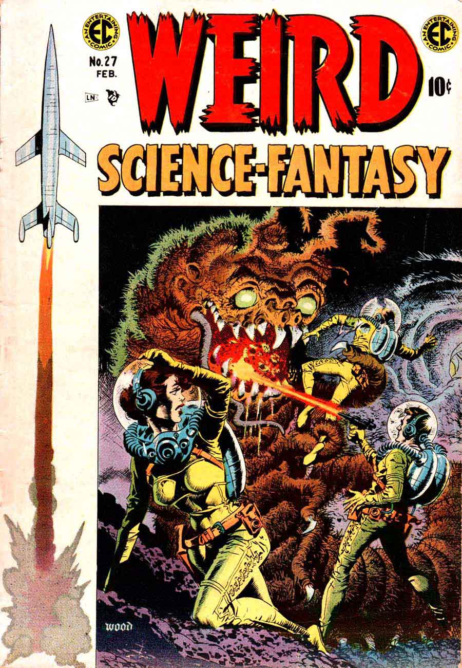 Weird Science-Fantasy v1 #27 ec comic book cover art by Wally Wood