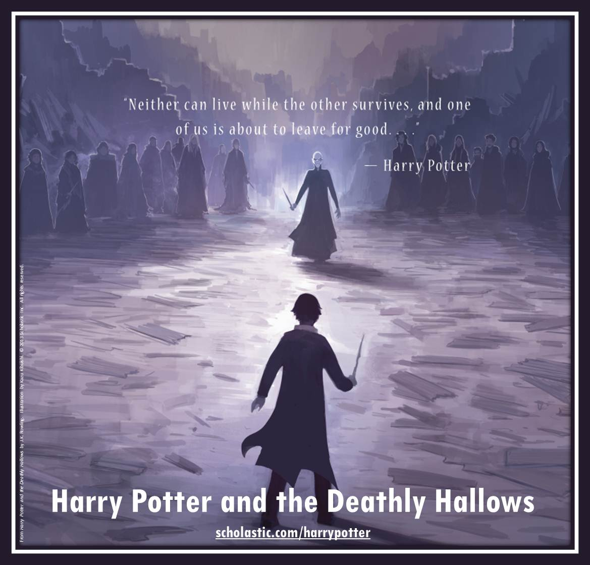 Harry Potter and the Deathly Hallows back cover created by Kazu Kibuishi