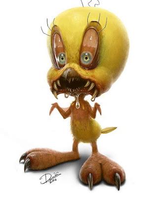 assustador desenho Piu-Piu