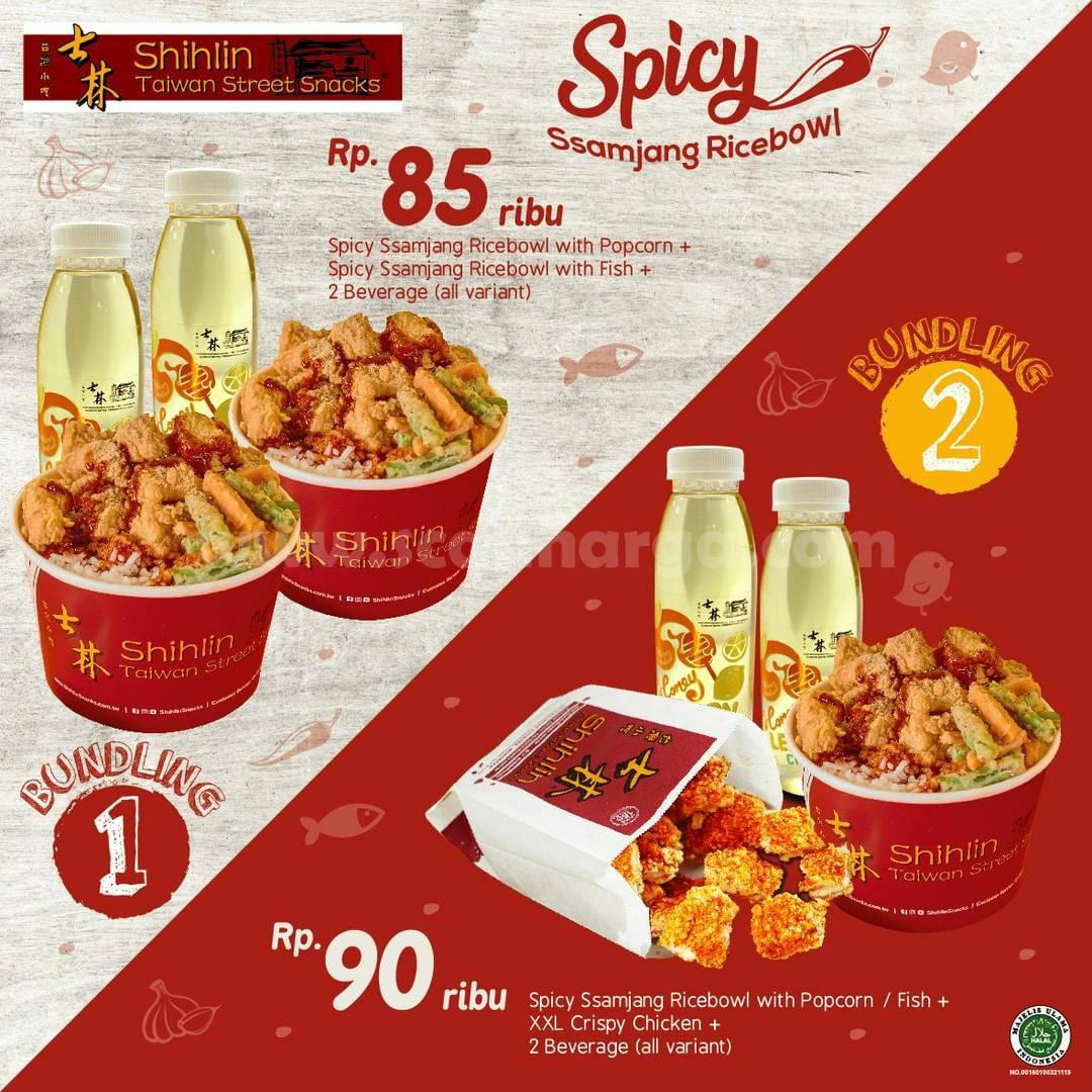 Promo SHIHLIN Harga Spesial Menu Spicy Ssamjang Rice Bowl mulai Rp 85K