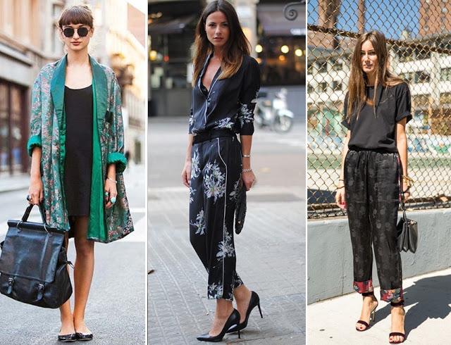 tendencias de moda primavera verão 2018 - look pijama