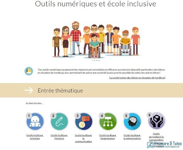 Le site du jour : Outils numériques et école inclusive
