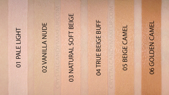 NYX Bare With Me Tinted Skin Veil Swatches Pale Light Vanilla Natural Beige Buff Camel MAC NW10 NC15 NC30 NC40