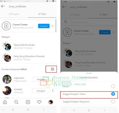 Cara Melihat Orang Yang Baru Kita Follow Di Instagram Tanpa Aplikasi