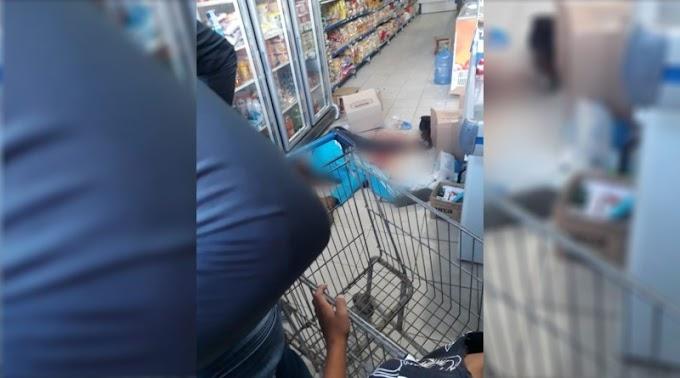 Vídeo: PM à paisana reage a assalto e acerta tiro em bandido no Distrito de Tataíra, em Desterro
