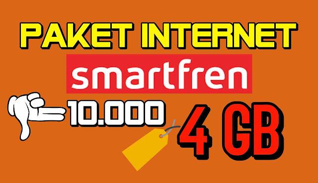 cara Daftar paket internet smartfren 4GB per minggu 10.000