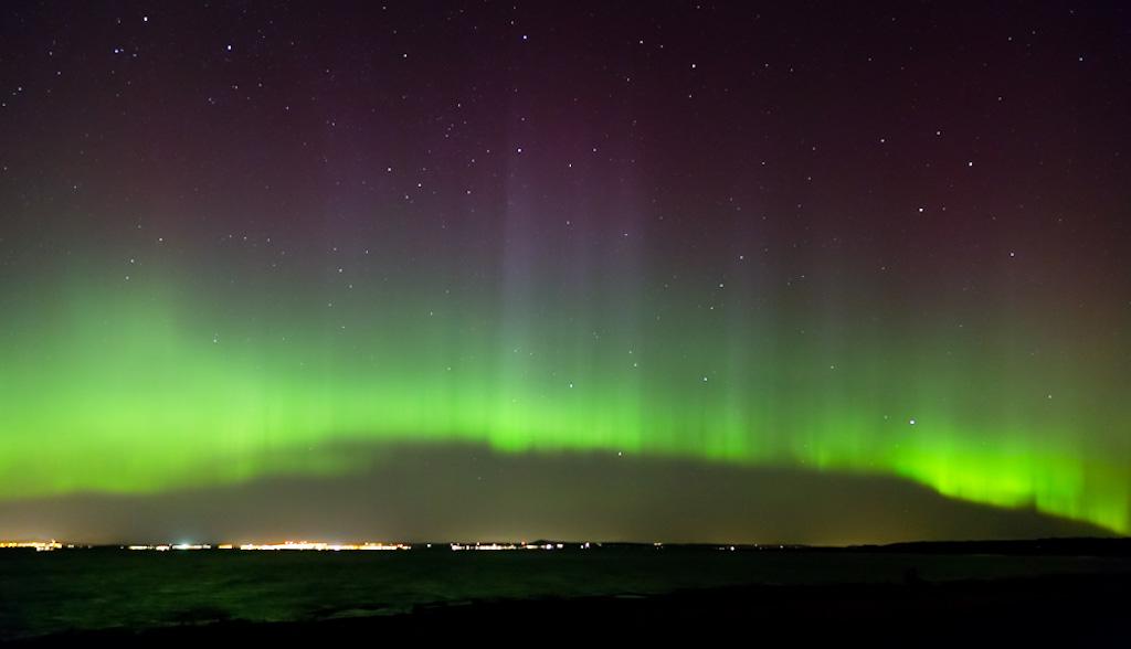 Zorza polarna sfotografowana 07.03.2016 r. - Credits: Miller Crawford - Longniddry Bents, Szkocja, Wielka Brytania
