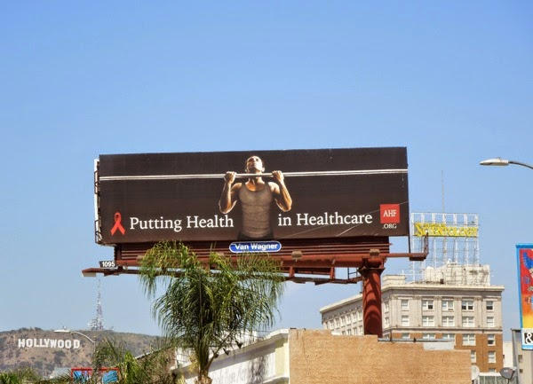 Putting the health in healthcare AIDS Foundation billboard