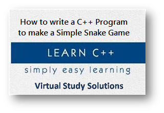 How to write C++ Program to make a Simple Snake Game