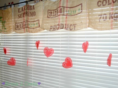 Valentine window decoration