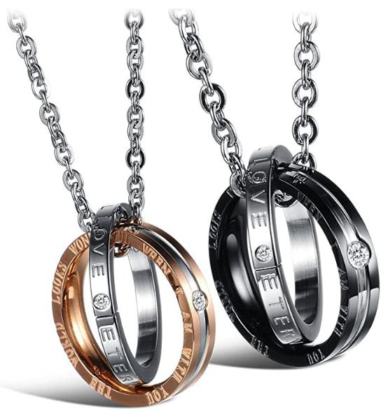 titanium stainless steel pendant necklace