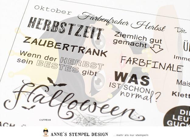 Stempel für den Monat Oktober