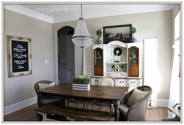 french farmhouse-suburban farmhouse-pottery barn-mis chandelier- dining room-from my front porch to yours