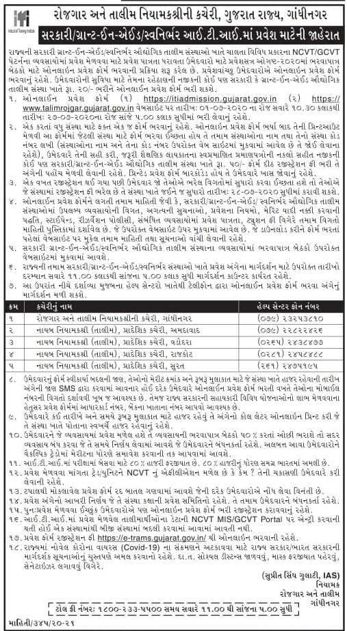 Gujarat ITI Admission