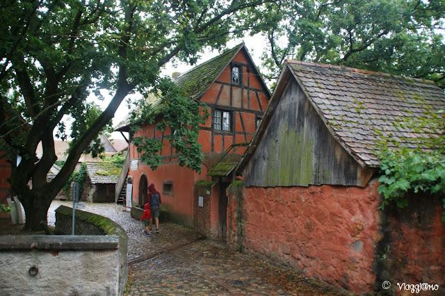 Alcuni degli edifici tradizionali nell'Ecomuseo d'Alsazia